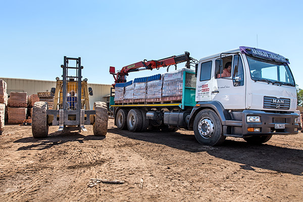 Claytile delivery truck
