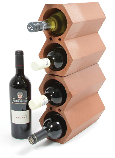 Clay wine racks