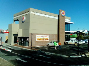 Claytile supplied 85 000 Imperial NFP & NFX bricks to the New Cape Gate Burger King Restaurant Contractor: Dekon Projects (Pty) Ltd
